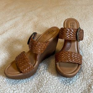 B.O.C. Wedges. Size 7M. Brown.